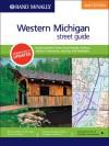 Rand McNally 2nd Edition Western Michigan street guide including Battle Creek, Grand Rapids, Holland, Jackson, Kalamazoo, Lansing, and Muskegon - Rand McNally