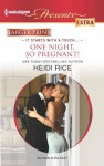One Night, So Pregnant! (Brothers & Sisters, #4) - Heidi Rice