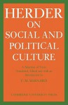 J. G. Herder on Social and Political Culture - Herder J. G., Frederick M. Barnard