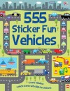 555 Sticker Fun Vehicles (555 Sticker Books) - Susan Mayes