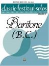 Classic Festival Solos (Baritone B.C.), Vol 2: Solo Book - Alfred Publishing Company Inc.