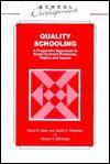 Quality Schooling - David Reynolds, David N. Aspin