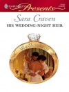 His Wedding-Night Heir (Harlequin Presents, #2509) - Sara Craven