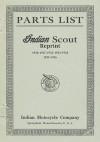 Parts List Indian Scout Reprint 1920 1921 1922 1923 1924 1925 1926 - Ross Bolton