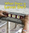 What Does a Level Do? - Robin Nelson