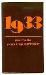 1933: Poems - Philip Levine