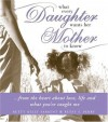 What Every Daughter Wants Her Mother to Know: From the Heart about Life, Love and What You've Taught Me - Betty Kelly Sargent, Betsy F. Perry
