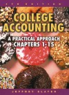 College Accounting 1-15 with Study Guide, Working Papers and Envelope Package - Jeffrey Slater