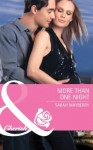 More Than One Night (Mills & Boon Cherish) - Sarah Mayberry