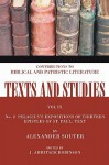 Pelagius's Expositions of Thirteen Epistles of St. Paul: Text: Number 2 - Alexander Souter, J. Armitage Robinson