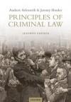 Principles of Criminal Law - Andrew Ashworth, Jeremy Horder