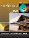 Cavendish: Constitutional Lawcards 5/E - Cavendish, Routledge