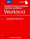 Georgia Performance Standards Exploration and Mastery Worktext: For Use with Holt Mathematics Course 1 and Mathematics in Context Level 1 - Holt Rinehart