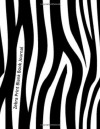 Zebra Print Blank Book Journal: 100 pages, unlined - NOT A BOOK