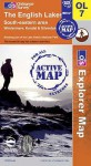 MAP: The English Lakes South Eastern Area (Os Explorer Map Active) - NOT A BOOK
