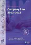 Blackstone's Statutes on Company Law 2012-2013 - Derek French
