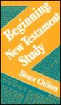 Beginning New Testament Study - Bruce Chilton