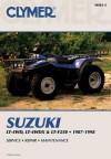 Clymer Suzuki LT-4WD, LT-4wdx & LT-F250, 1987-1998 - Clymer Publishing