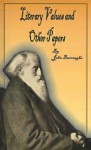 Literary Values and Other Papers - John Burroughs