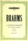 Brahms Ein Deutsches Requiem German Requiem Opus 45 2 Soli, Chor und Orchester Edition Peters Nr. 3672 - Johannes Brahms