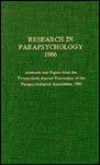 Research in Parapsychology 1986 - Debra Weiner, Parapsychological Association