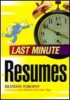 Last Minute Resumes - Brandon Yusuf Toropov