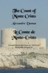 The Count of Monte Cristo: Unabridged Bilingual Edition: English-French, Vol. 1 - Alexandre Dumas, Sarah E Holroyd