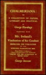 Chalmeriana: Or, a Collection of Papers, Literary and Political - George Hardinge