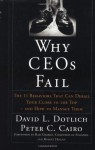Why CEO's Fail: The 11 Behaviors That Can Derail Your Climb to the Top and How to Manage Them - David L. Dotlich, Peter C. Cairo