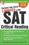 Increase Your Score in 3 Minutes a Day: SAT Critical Reading - Randall McCutcheon, James Schaffer