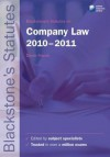 Blackstone's Statutes On Company Law 2010 2011 - Derek French
