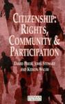Citizenship: Rights, Community, and Participation - John Stewart, David Prior, Kieron Walsh