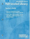 Introductory Course Holt Leveled Library Teacher's Guide Elements of Literature - Harvey Daniels