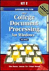 Greg College Document Processing for Windows: Lessons 61-120 for Use With Wordperfect 8.0 - Scot Ober, Jack E. Johnson, Robert N. Hanson