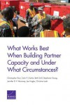 What Works Best When Building Partner Capacity and Under What Circumstances? - Christopher Paul, Colin P Clarke, Beth Grill, Stephanie Young, Jennifer D P Moroney, Joe Hogler, Christine Leah