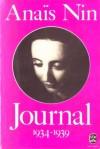Journal, Tome II (1934-1939) - Anaïs Nin, Gunther Stuhlmann, Marie-Claire van der Elst