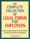 Complete Collection of Legal Forms for Employers - Steven Mitchell Sack