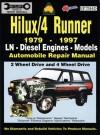 Toyota Hilux/4 Runner Diesel 1979-1997 Auto Repair Manual-LN, Diesel Eng 2 & 4 Wheel Drive - Max Ellery