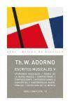 Escritos Musicales V (Obra Completa, #18) - Theodor W. Adorno