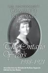 L.M. Montgomery's Complete Journals: The Ontario Years: 1918-1921 - Jen Rubio, Elizabeth Rollins Epperly