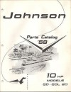 1959 JOHNSON OUTBOARD 10 HP QD, QDL 20 PARTS MANUAL - Manufacturer
