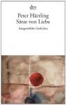 Sätze von Liebe - Peter Härtling