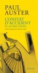 Constat d'accident et autres textes - Paul Auster