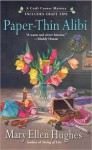 Paper-Thin Alibi (Craft Corner Mystery, #3) - Mary Ellen Hughes