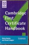Cambridge First Certificate Handbook Cassette Set - Helen Naylor