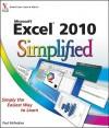 Excel 2010 Simplified - Paul McFedries