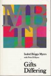 Gifts Differing - Isabel Briggs Myers