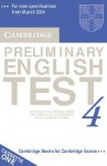 Cambridge Preliminary English Test 4 Audio Cassette Set (2 Cassettes): Examination Papers from the University of Cambridge ESOL Examinations - Cambridge ESOL