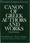 Thesaurus Linguae Graecae: Canon of Greek Authors and Works - Luci Berkowitz