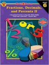 Math 2 Master Fractions, Decimals, and Percents II, Grade 6 - School Specialty Publishing, Brighter Child